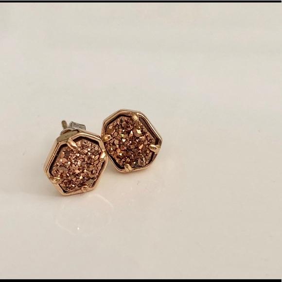 dd49cd8e67a124 Kendra Scott Rose Gold Drusy Logan Earrings. M_5b58ae0c03087c836afaeeb0